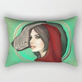 Wolf Girl Rectangular Pillow