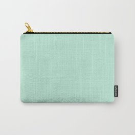 Mint Green Pastel Solid Color Block Carry-All Pouch