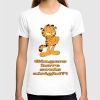 garfield T-shirts featuring Garfield gingers have souls by Création Numérique du Rocher