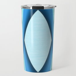 Two Tone Blue Modern Digital Art Travel Mug