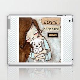 Love Changes Everything by Diane Duda Laptop & iPad Skin