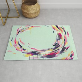 Life Aquatic - Abstract painting by Jen Sievers Rug