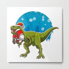 T-rex Eating Dinosaurs Metal Print