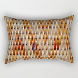 woven basket texture Rectangular Pillow