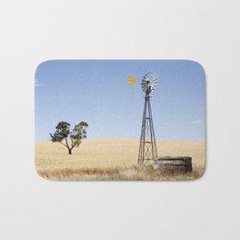 Australian Wheat-field Rural Landscape Bath Mat