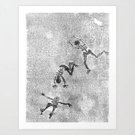 Midnight Shadow Dancers Art Print