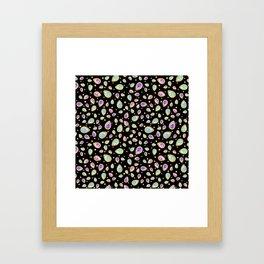 Colored diamonds (black) Framed Art Print