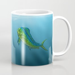 """El Dorado"" by Amber Marine ~ Mahi Mahi / Dolphin Fish Art, (Copyright 2015) Coffee Mug"