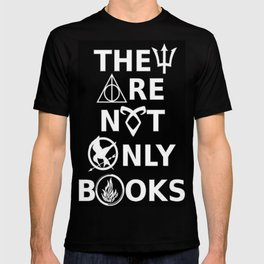 They Are Not Only Books (inverted) T-shirt