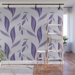 Ultraviolet Foliage #society6 #pattern #ultraviolet Wall Mural