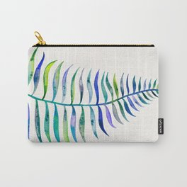 Indigo Palm Leaf Carry-All Pouch