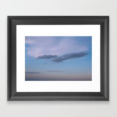 Bird in the Clouds Framed Art Print