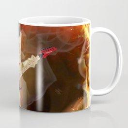 rocker cat in flames Coffee Mug