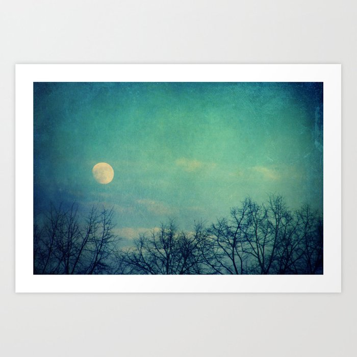 Ice Moon Art Print
