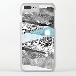 A break in the mountains Clear iPhone Case
