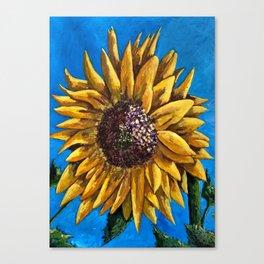 Solo Sunflower Canvas Print