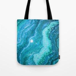 Blue Greenery Tote Bag