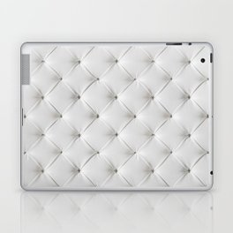 White Tufted Laptop & iPad Skin