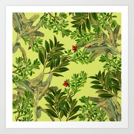 Leaves in Summer Art Print
