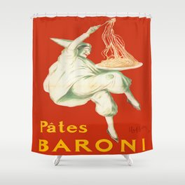 Vintage poster - Pates Baroni Shower Curtain