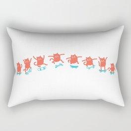 Kick Flip Cat Rectangular Pillow