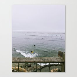 Morning Surf in Santa Cruz Canvas Print
