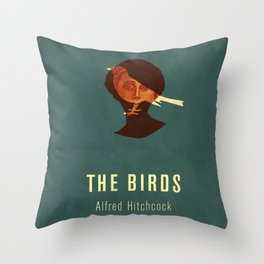 THE BIRDS - Hitchcok Poster Throw Pillow
