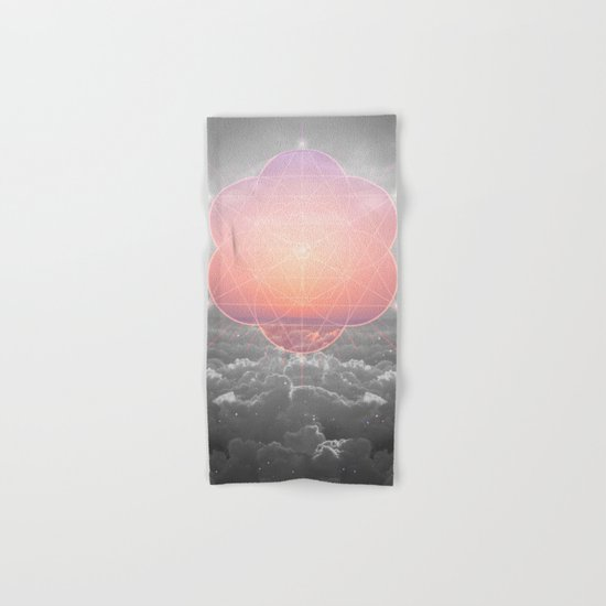 The Sun Is But A Morning Star (Mono Geometric Sunrise) Hand & Bath Towel