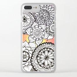 Sunset Mandalas Clear iPhone Case