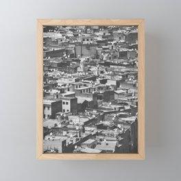 Cityview Medina Fés, Morocco. Black and White Fine Art Travel Print. Wall Art. Framed Mini Art Print