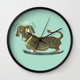 Bad Dog! (The Little Dachshund That Didn't) Wall Clock