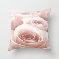 roses Throw Pillows featuring Roses  by Bree Madden