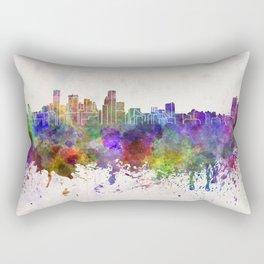 Baltimore skyline in watercolor background Rectangular Pillow