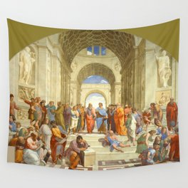 """Raffaello Sanzio da Urbino """"The School of Athens"""", 1509-1510 Wall Tapestry"""