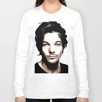 louis tomlinson Long Sleeve T-shirts featuring LOUIS TOMLINSON Vector Portrait by LsArtistry