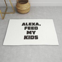 ALEXA, feed my kids! Rug