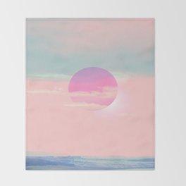 Peach elipse Throw Blanket