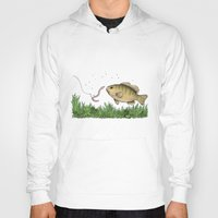fishing Hoodies featuring Fishing by Eugenia Hauss