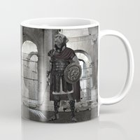 gladiator Mugs featuring Neapolitan Mastiff Gladiator  by Barruf