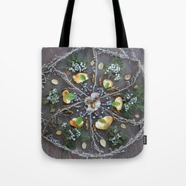 Nature Mandala: February Tote Bag