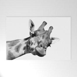 Black and white giraffe Welcome Mat