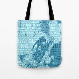 Surfing Hawaii, The Green Room, Hawaiian Surfing Design Tote Bag
