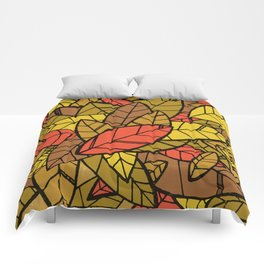 Autumn Memories (a pile of leaves) Comforters