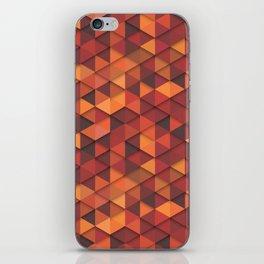 Seamless orange fashion retro hipster pattern iPhone Skin