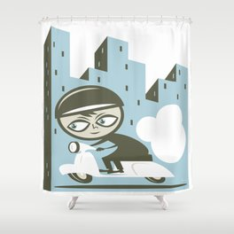 Scooter Boy Shower Curtain