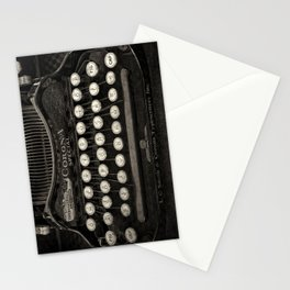 Old Typewriter Keyboard Stationery Cards