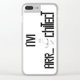 Architecture, architect Clear iPhone Case