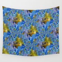 ducks Wall Tapestries featuring Flowing Ducks.... by Cherie DeBevoise
