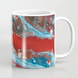 RIVER RUNS SLOW | Acrylic abstract art by Natalie Burnett Art Coffee Mug