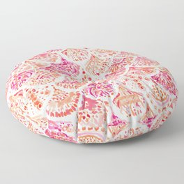 CORAL CAMO Mermaid Watercolor Fish Scales Floor Pillow